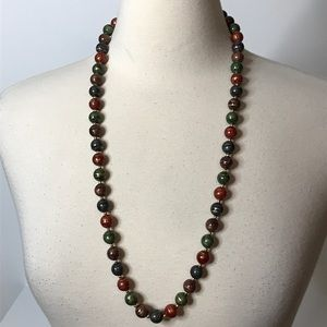 """Abstract Multicolor Bead Necklace Approx. 30"""""""